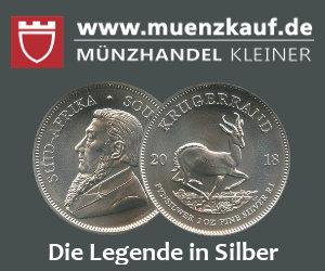 Silber Krügerrand bei Münzhandel Kleiner